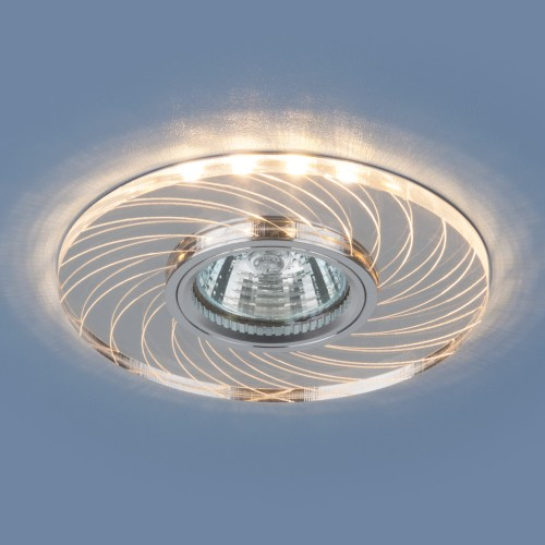 Встраиваемый потолочный светильник с LED подсветкой 2203 MR16 CL прозрачный