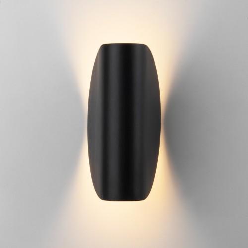 Taco чёрный уличный настенный светодиодный светильник IP54 1632 TECHNO LED