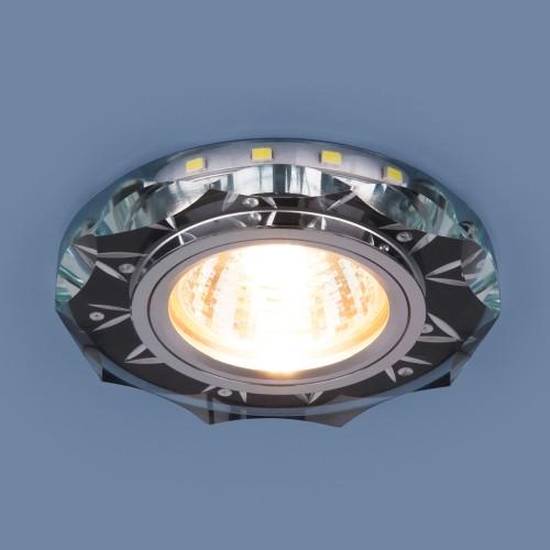 Точечный светодиодный светильник 8356 MR16 CL/BK прозрачный/черный
