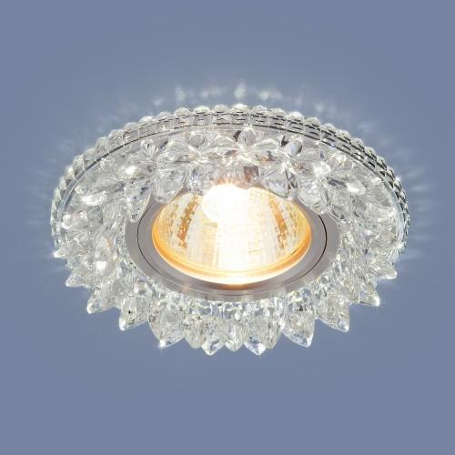 Встраиваемый потолочный светильник с LED подсветкой 2212 MR16 CL прозрачный