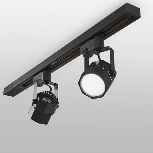Трековый светильник для однофазного шинопровода Robi GU10 Черный MRL 1004