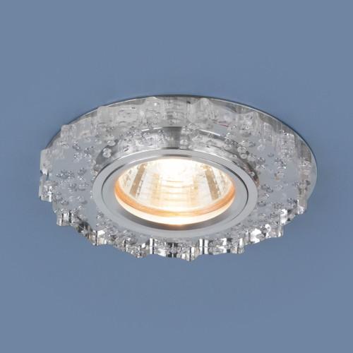 Встраиваемый потолочный светильник с LED подсветкой 2202 MR16 CL прозрачный