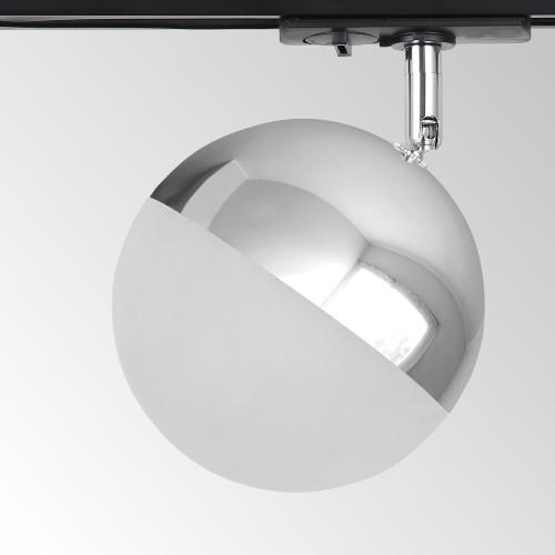 Трековый светодиодный светильник для однофазного шинопровода Glob GX53 Хром Glob GX53 Хром (MRL 1015) однофазный