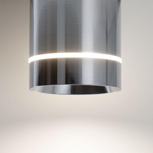 Накладной потолочный светодиодный светильник DLR022 12W 4200K хром