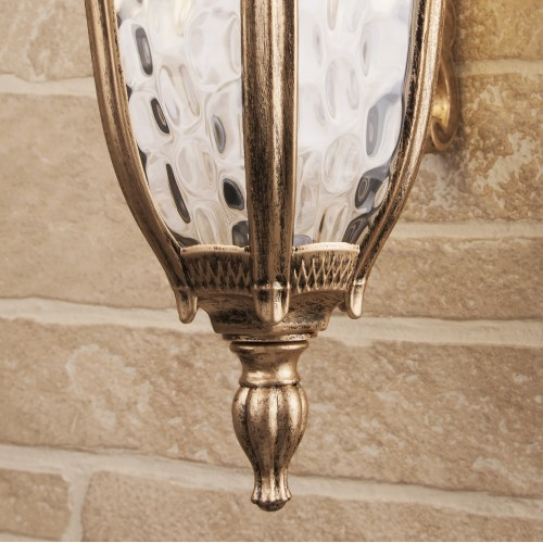 Draco D черное золото уличный настенный светильник GL 1010D