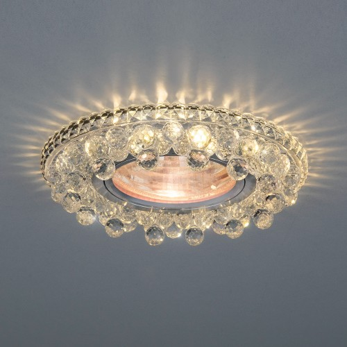 Встраиваемый потолочный светильник с LED подсветкой 2211 MR16 CL прозрачный