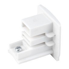 Заглушка для трехфазного шинопровода белая TRB-1-3-WH