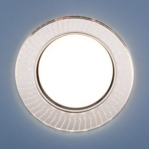 Встраиваемый точечный светильник с LED подсветкой 3033 GX53 CL/SL прозрачный/серебро
