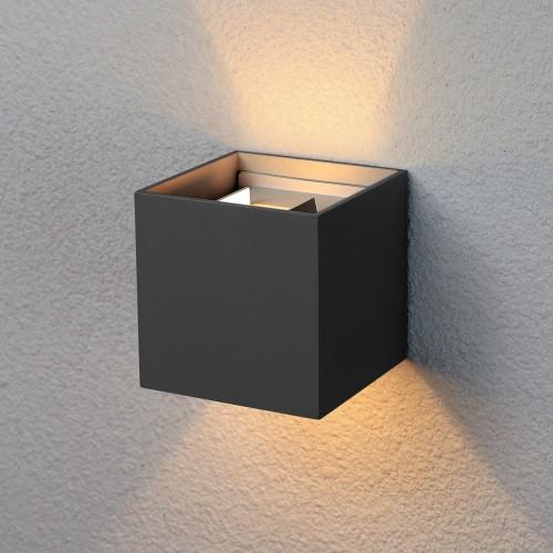Winner черный уличный настенный светодиодный светильник 1548 TECHNO LED