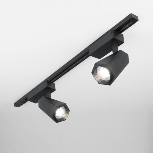 Трековый светодиодный светильник для однофазного шинопровода Magnum черный матовый 20W 4200K LTB46