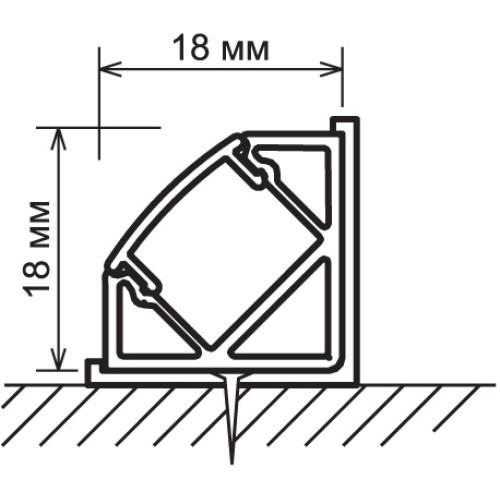 Угловой алюминиевый профиль для светодиодной ленты LL-2-ALP004