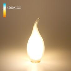 Светодиодная лампа Свеча на ветру BL112 7W 4200K E14 белый матовый
