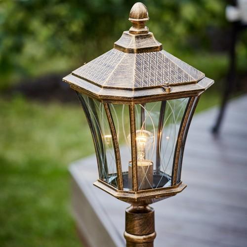 Virgo F черное золото уличный светильник на столбе IP44 GLXT-1450F