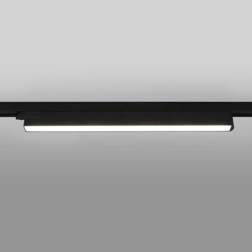 Трековый светодиодный светильник для трехфазного шинопровода X-Line черный матовый X-Line черный матовый 28W 4200K (LTB55) трехфазный