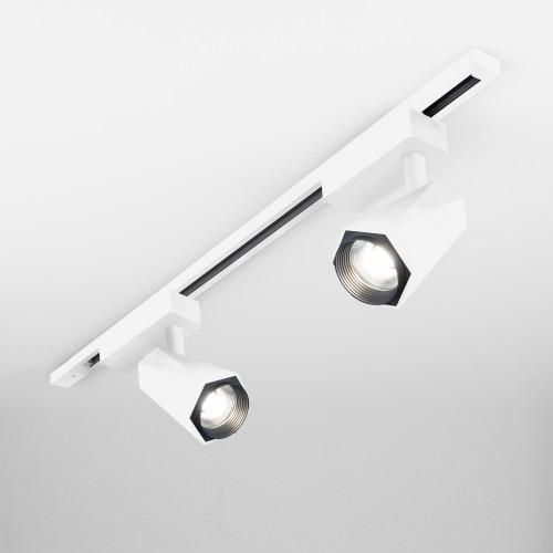 Трековый светодиодный светильник для однофазного шинопровода Magnum белый матовый 20W 4200K LTB46
