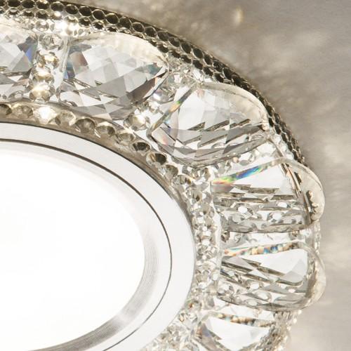Встраиваемый точечный светильник с LED подсветкой 2218 MR16 CL прозрачный
