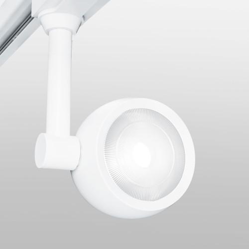 Трековый светодиодный светильник для однофазного шинопровода Oriol белый 12W 4200K LTB48