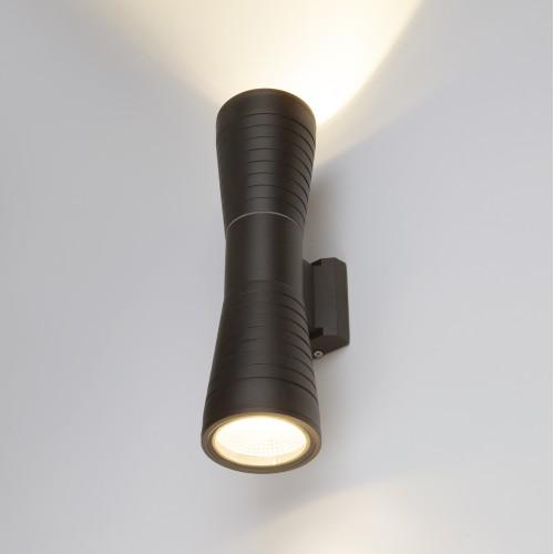 Tube double черный уличный настенный светодиодный светильник 1502 TECHNO LED