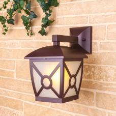 Columba D коричневый уличный настенный светильник GL 1022D