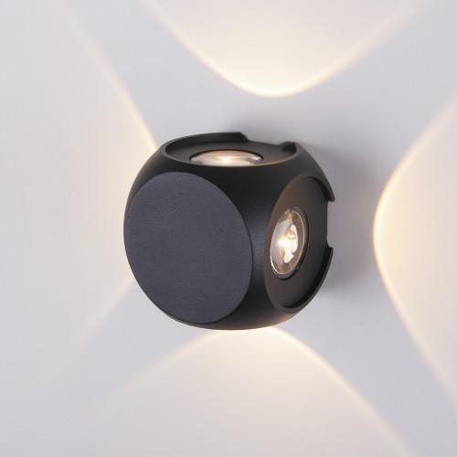 CUBE черный уличный настенный светодиодный светильник 1504 TECHNO LED