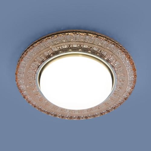 Встраиваемый точечный светильник с LED подсветкой 3028 GX53 GC тонированный