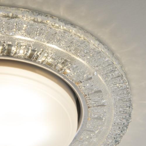 Встраиваемый точечный светильник с LED подсветкой 3028 GX53 CL прозрачный