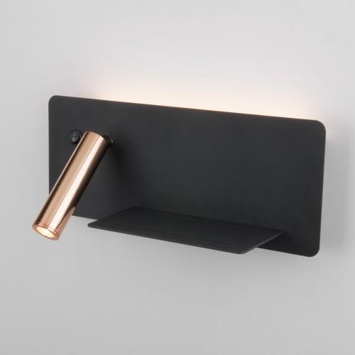 Настенный светодиодный светильник с USB Fant R LED (правый) чёрный/золото MRL LED 1113