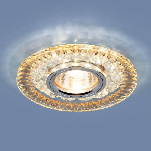 Точечный светодиодный светильник 2198 MR16 CL/GD прозрачный/золото