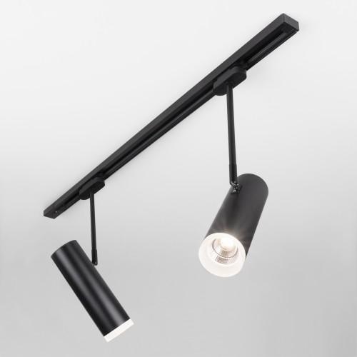 Трековый светодиодный светильник для однофазного шинопровода Oliver черный 9W 4200K LTB45