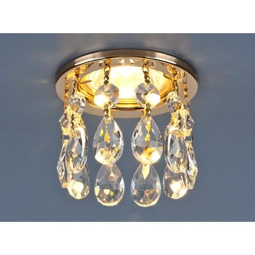 Светильник точечный с хрусталем 2055 GD/WH (золото/прозрачный)