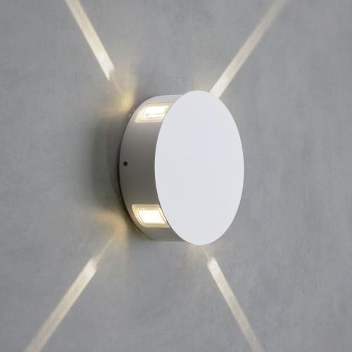 Beam белый уличный настенный светодиодный светильник 1545 TECHNO LED