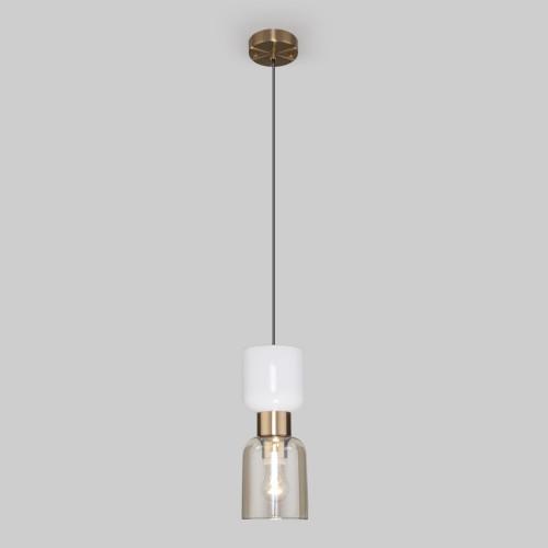 Подвесной светильник со стеклянным плафоном 50118/1 латунь