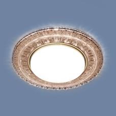 Встраиваемый точечный светильник с LED подсветкой 3028 GX53 CF кофе
