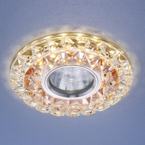 Встраиваемый потолочный светильник со светодиодной подсветкой 2170 MR16 GC CL тонированный прозрачный