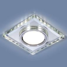 Встраиваемый потолочный светильник со светодиодной подсветкой 2229 MR16 SL зеркальный/серебро