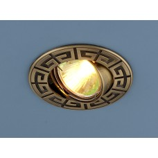 Точечный светильник для натяжных, подвесных и реечных потолков 120090 MR16 SB бронза