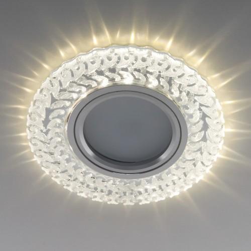 Встраиваемый точечный светильник с LED подсветкой 2223 MR16 CL прозрачный