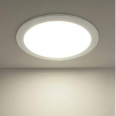 Встраиваемый потолочный светодиодный светильник DLR003 24W 4200K