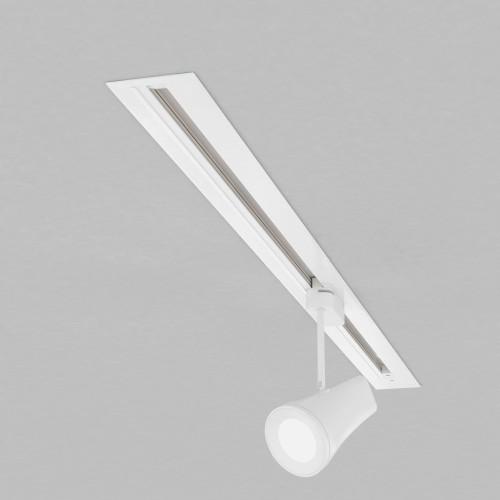 Встраиваемый однофазный шинопровод 1 метр белый (с вводом питания и заглушкой) TRLM-1-100-WH