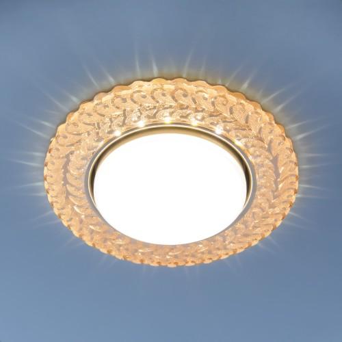 Встраиваемый точечный светильник с LED подсветкой 3027 GX53 GC тонированный