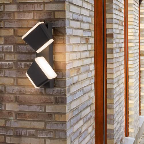 Bell черный уличный настенный светодиодный светильник 1522 TECHNO LED
