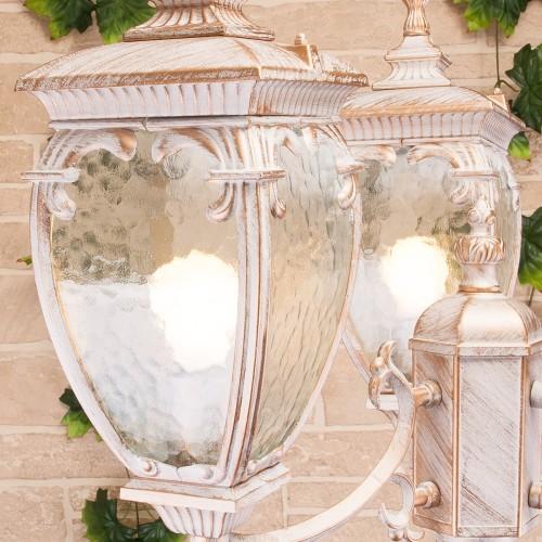 Andromeda F/3 белое золото уличный трехрожковый светильник на столбе IP44 GLYF-8024F/3