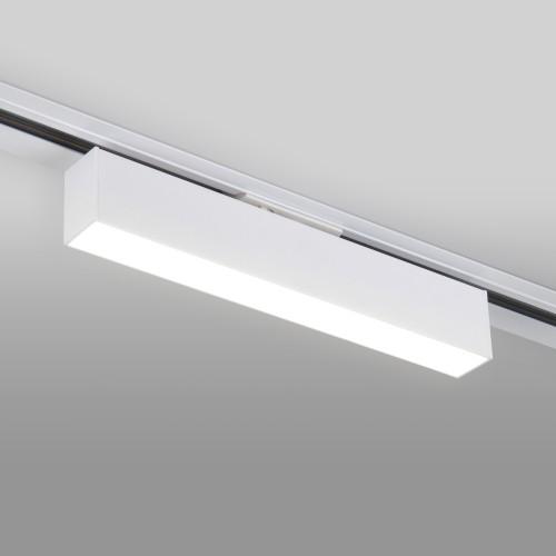 Трековый светодиодный светильник для однофазного шинопровода X-Line 10W 4200K белый матовый X-Line белый матовый 10W 4200K (LTB53) однофазный