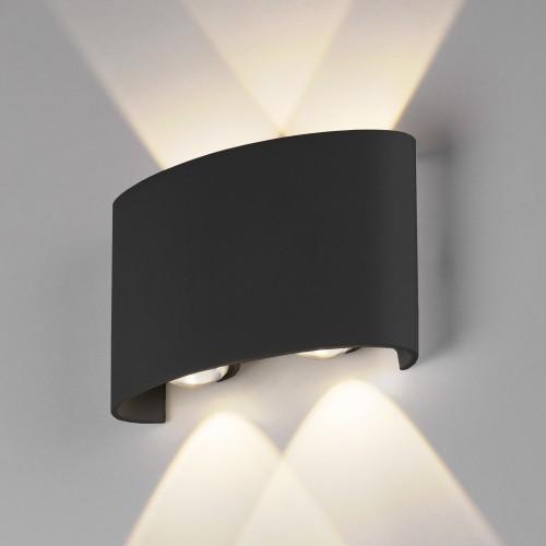 Twinky double чёрный уличный настенный светодиодный светильник 1555 TECHNO LED