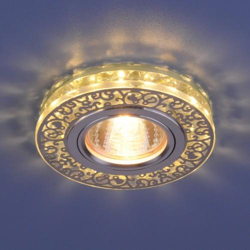 Точечный светодиодный светильник с хрусталем 6034 MR16 CH/CL хром/прозрачный