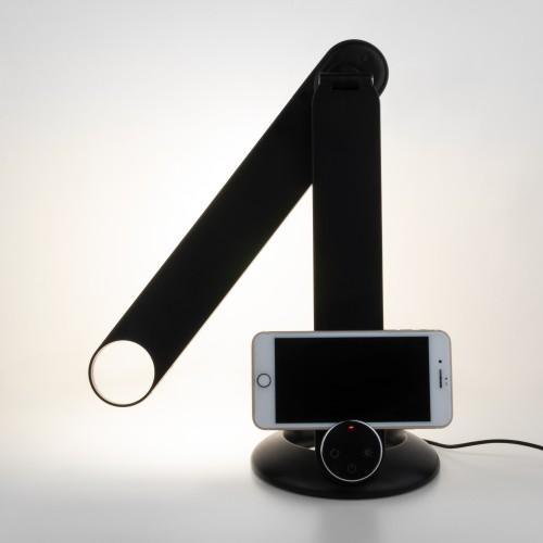 Светодиодная настольная лампа с беспроводной зарядкой 80428/1 черный