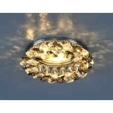 Светильник точечный с хрусталем 206 MR16 CH/SBK/CL хром/дымчатый/прозрачный