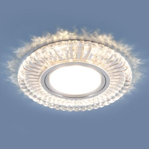 Встраиваемый потолочный светильник со светодиодной подсветкой 2239 MR16 CL прозрачный