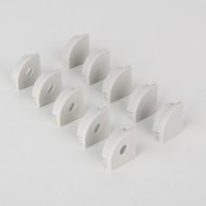 Комплект заглушек для углового алюминиевого профиля для светодиодной ленты (5 пар) ZLL-2-ALP008