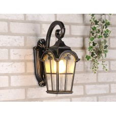 Уличный настенный светильник Mira D черное золото